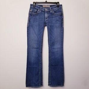 Big Star Sz 27XL Sweet Boot Low Rise Blue Jeans